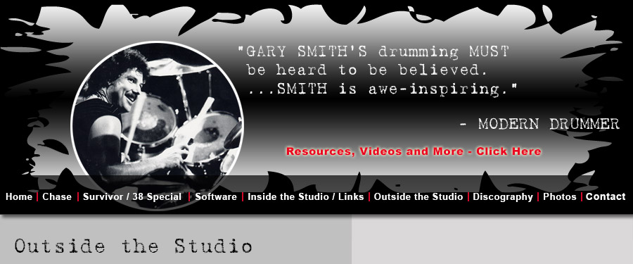 Gary Smith, Drummer for Chase, Original Drummer for Survivor, Studio Drummer