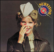 "The first album, entitled ""Survivor,"" featuring Kim Basinger on the cover"